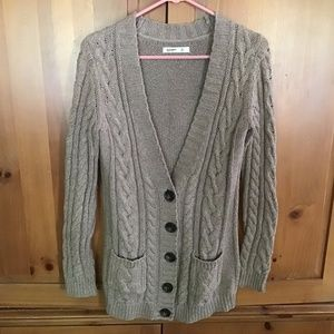 Old Navy Cardigan women's cable knit sweater